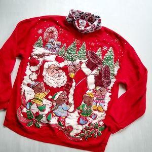 Vintage Nutcracker • Santa ugly Christmas sweater
